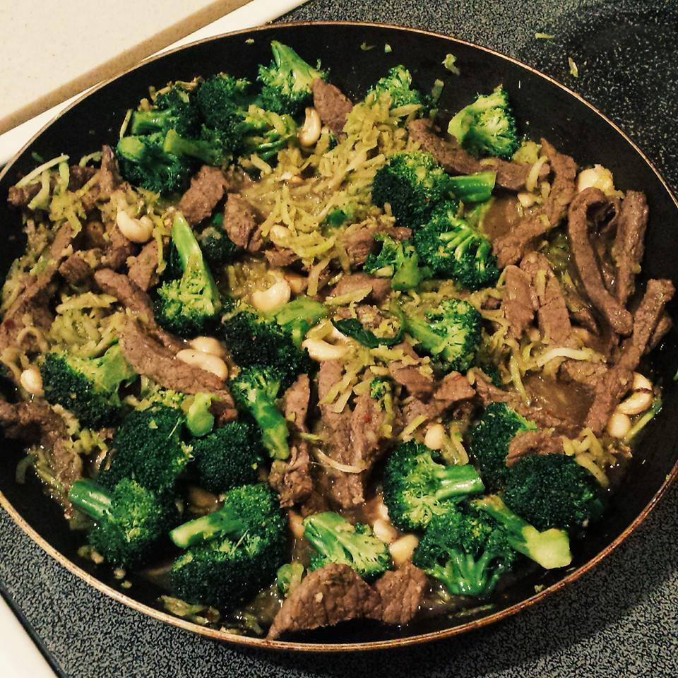 Citrus cashew beef and broccoli