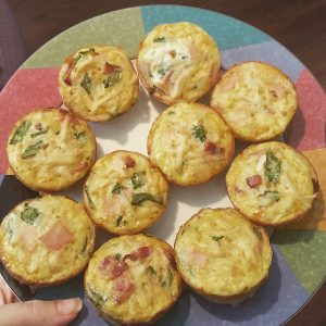 Paleo egg muffins egg hash brown bacon