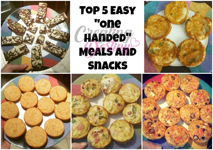 Top 5 Easy One Handed Meals and Snacks